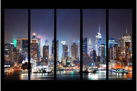Модульная картина Ночной Нью-Йорк