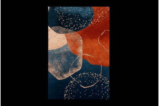 Картина  Синий и оранжевый
